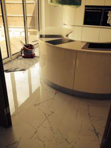 Customer kitchen tiles
