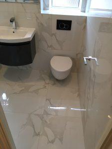 Customer bathroom tiles