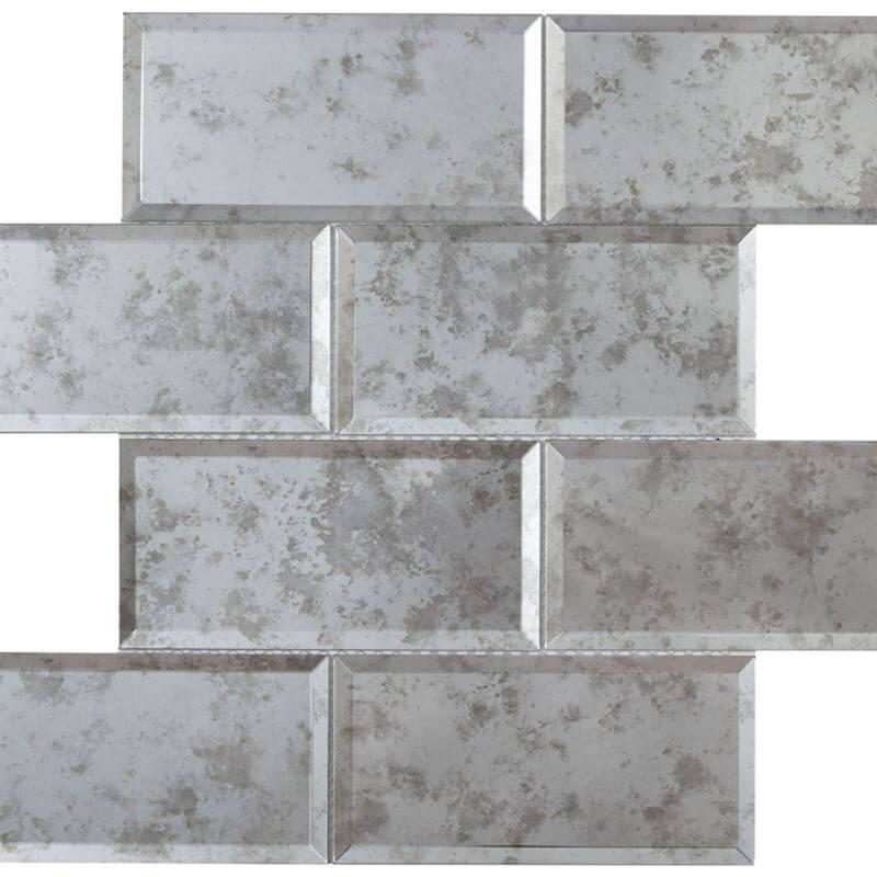 HT Mosaics 2 30239 Grey  Glass Tile