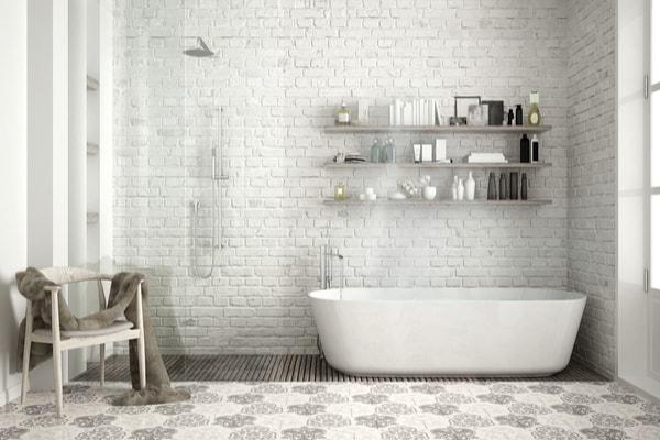 Victorian style tiles, bathroom design