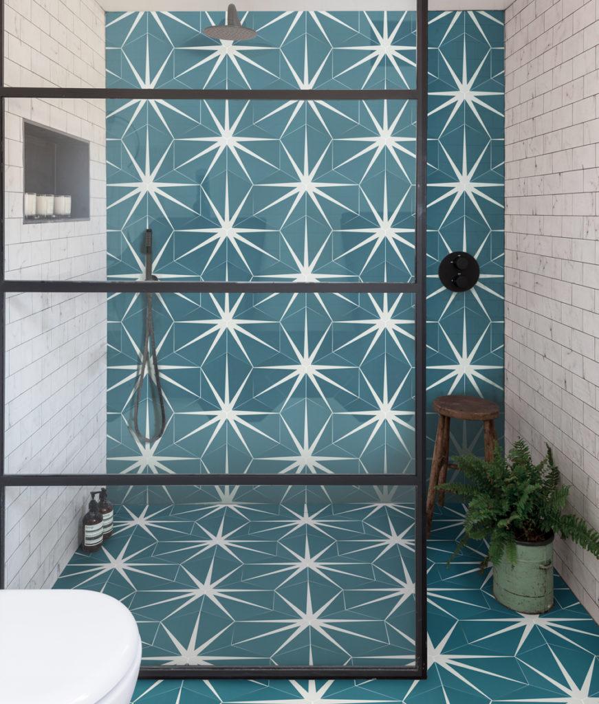 peacock wall tile