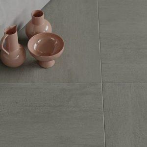 Hardin Grey tile on the floor of a living room