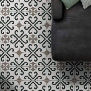 Derby Porcelain tile on the floor of a living room
