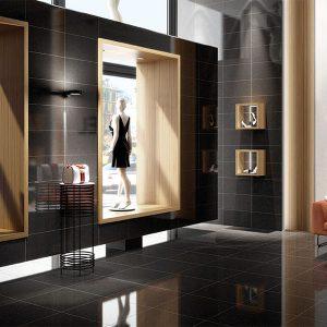 Smart Lux Black Tile in a shop